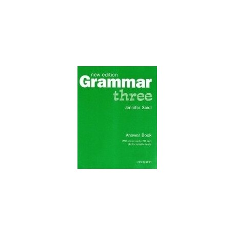Grammar Three New Edition Answer Book + CD Oxford University Press 9780194309486