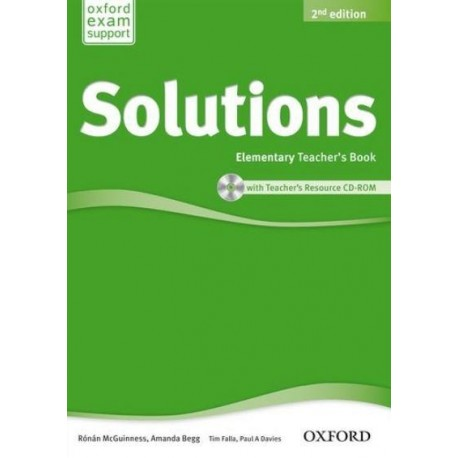 Maturita Solutions Second Edition Elementary Teacher's Book + CD-ROM Oxford University Press 9780194553704
