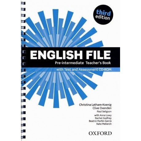 English File Third Edition Pre-Intermediate Teacher's Book with Test + Assesment CD-ROM Oxford University Press 9780194598750