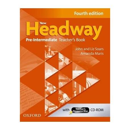 New Headway Pre-Intermediate Fourth Edition Teacher's Book + CD-ROM Oxford University Press 9780194769655