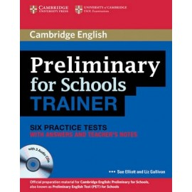 Preliminary for Schools Trainer with answers + Teacher's Notes + Audio CDs