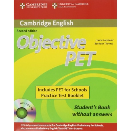 Objective PET Second Edition For Schools Pack without answers Cambridge University Press 9780521168274