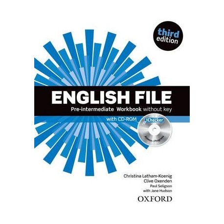 English File Third Edition Pre-Intermediate Workbook without Key + CD-ROM Oxford University Press 9780194598729