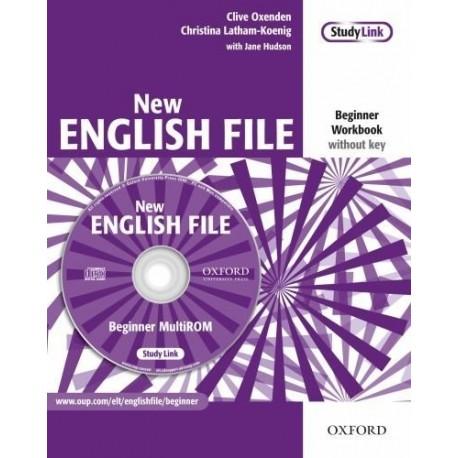 New English File Beginner Workbook without Key + MultiROM Oxford University Press 9780194518727