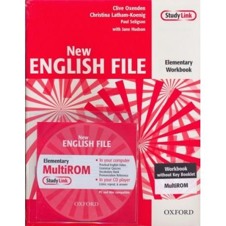 New English File Elementary Workbook without Key + MultiROM Oxford University Press 9780194387668