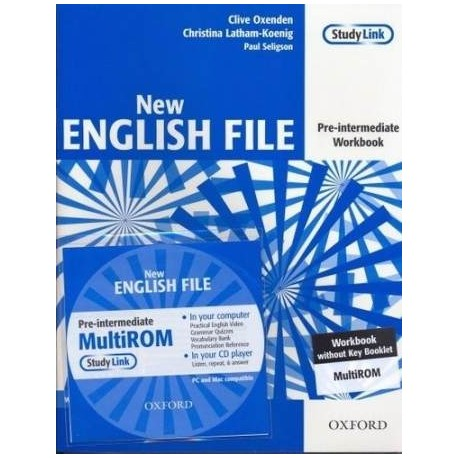 New English File Pre-Intermediate Workbook without Key + MultiROM Oxford University Press 9780194387699