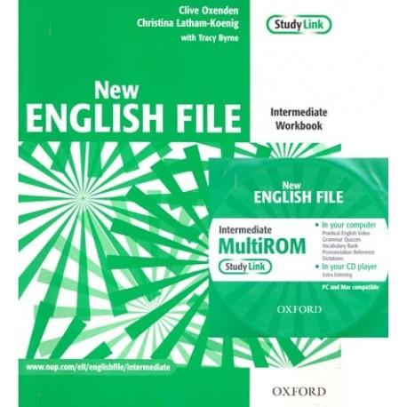 New English File Intermediate Workbook without Key + MultiROM Oxford University Press 9780194518079