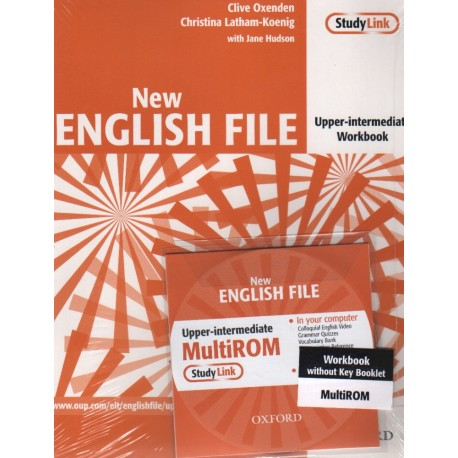New English File Upper-Intermediate Workbook without Key + MultiROM Oxford University Press 9780194518475