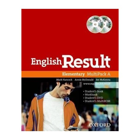 English Result Elementary Multipack A + Student's DVD-ROM + MultiROM Oxford University Press 9780194130028