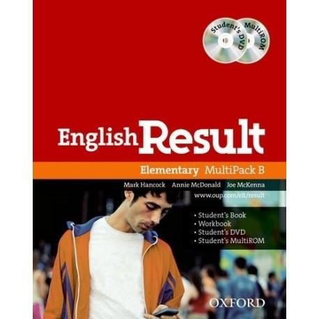 English Result Elementary Multipack B + Student's DVD-ROM + MultiROM Oxford University Press 9780194130066