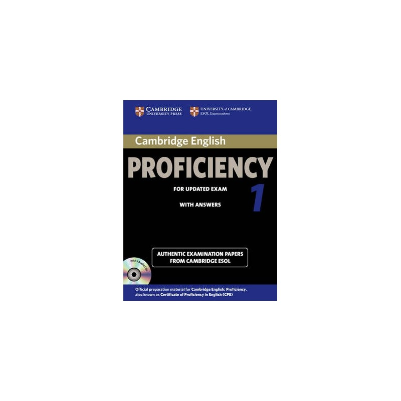 Cambridge English Proficiency 1 For Updated Exam 2013 Students Book With Answers Audio CDs