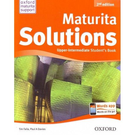Maturita Solutions Second Edition Upper-Intermediate Student's Book Czech Edition Oxford University Press 9780194552950