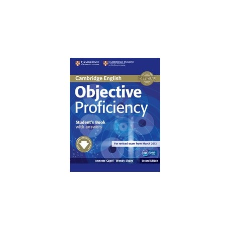Objective Proficiency Second Edition Student's Book with answers + Downloadable Software Cambridge University Press 9781107646377