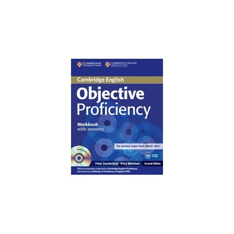 Objective Proficiency Second Edition Workbook with answers + audio CD Cambridge University Press 9781107619203