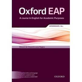 Oxford EAP English for Academic Purposes B1+ Intermediate Student's Book + DVD-ROM