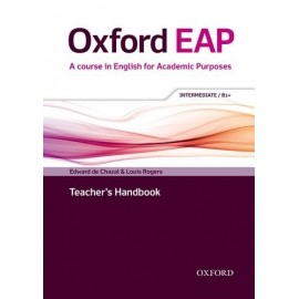 Oxford EAP English for Academic Purposes B1+ Intermediate Teacher's Handbook + DVD-ROM