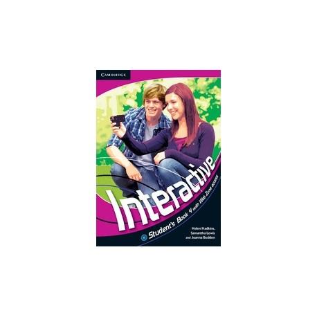Interactive 4 Student's Book + Web Zone access Cambridge University Press 9780521712248