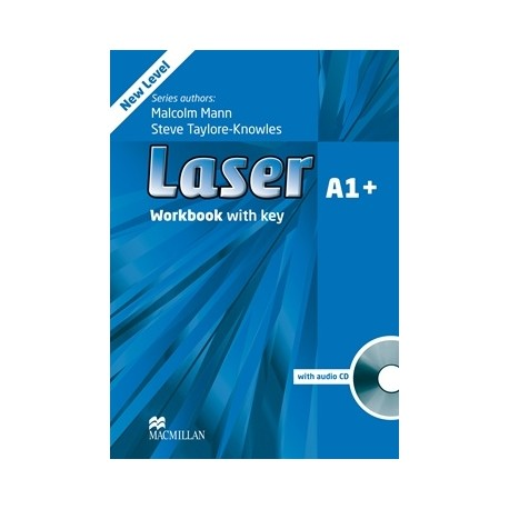 Laser A1+ Third Edition Workbook with Key + CD Macmillan 9780230424616
