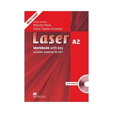 Laser A2 Third Edition Workbook with Key + CD Macmillan 9780230424746