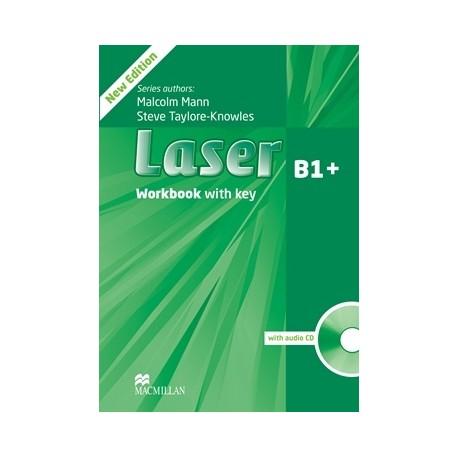 Laser B1+ Third Edition Workbook with Key + CD Macmillan 9780230433687