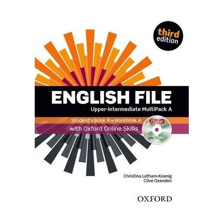 English File Third Edition Upper-Intermediate Multipack A + iTutor DVD-ROM + Online Skills Practice Oxford University Press 9780194501408