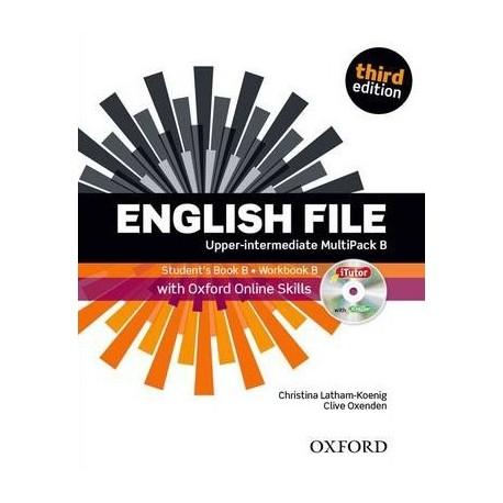 English File Third Edition Upper-Intermediate Multipack B + iTutor DVD-ROM + Online Skills Practice Oxford University Press 9780194501415