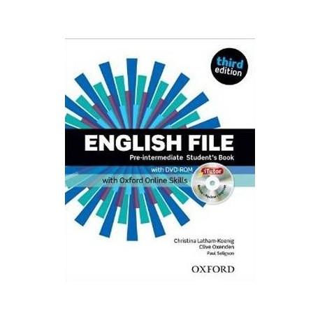 English File Third Edition Pre-Intermediate Student's Book + DVD-ROM + Online Skills Practice Oxford University Press 9780194517942
