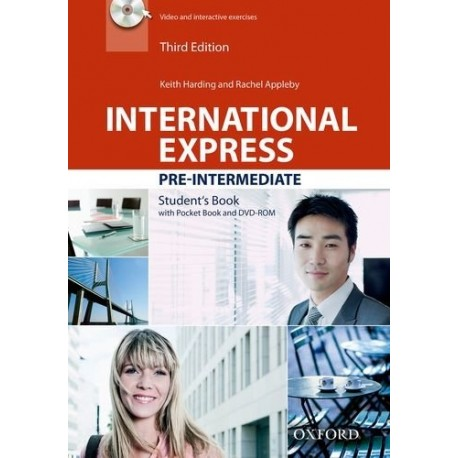International Express Pre-Intermediate Third Edition Student's Book + Pocket Book + DVD-ROM Oxford University Press 9780194597852