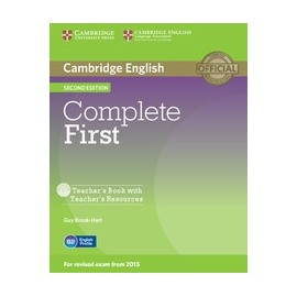 Complete First Second Edition Teacher's Book + Teacher's Resources CD-ROM / CD