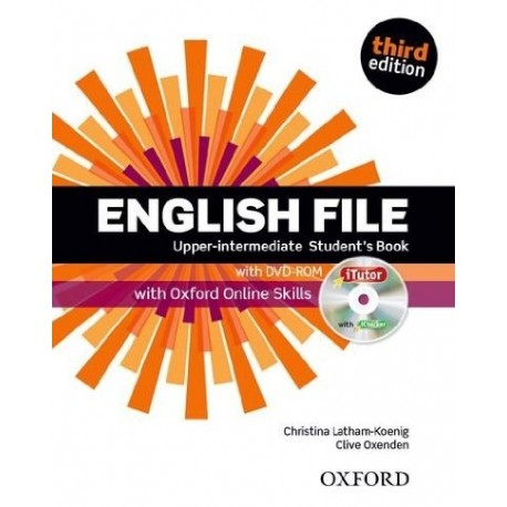 English File Third Edition Upper-Intermediate Student's Book + iTutor DVD-ROM + Online Skills Practice Oxford University Press 9780194558754