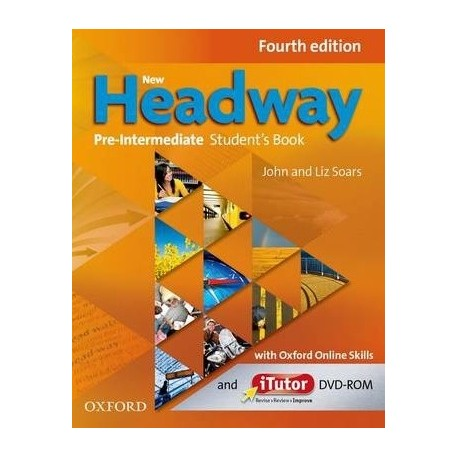 New Headway Pre-Intermediate Fourth Edition Student's Book + iTutor DVD-ROM + Online Skills Practice Oxford University Press 9780194772754