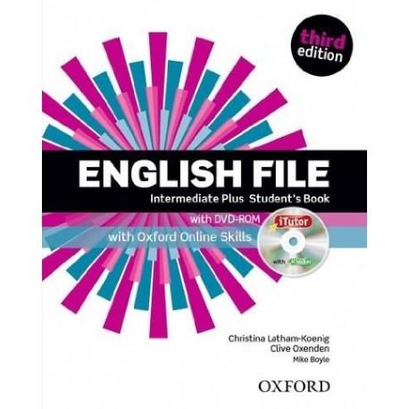 English File Third Edition Intermediate Plus Student's Book + iTutor DVD-ROM + Online Skills Practice Oxford University Press 9780194558297