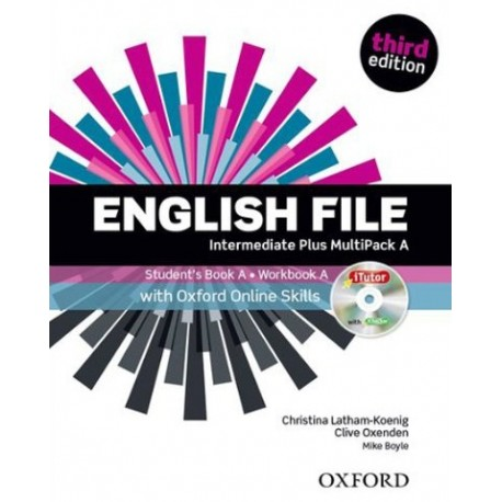 English File Third Edition Intermediate Plus Multipack A + iTutor DVD-ROM + Online Skills Practice Oxford University Press 9780194501330