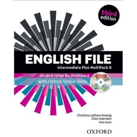 English File Third Edition Intermediate Plus Multipack B + iTutor DVD-ROM + Online Skills Practice Oxford University Press 9780194501347