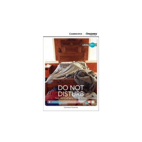 Do Not Disturb: The Importance of Sleep + Online Access Cambridge University Press 9781107646827