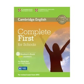 Complete First for Schools Student's Book with answers + CD-ROM