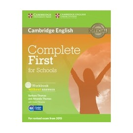 Complete First for Schools Workbook without answers + Audio CD
