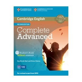 Complete Advanced Second Edition Student's Book without answers + CD-ROM
