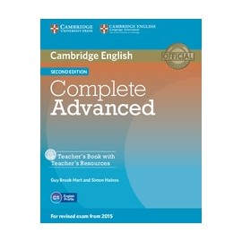 Complete Advanced Second Edition Teacher's Book + Teacher's Resources CD-ROM