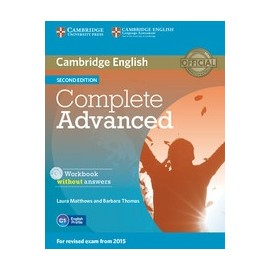 Complete Advanced Second Edition Workbook without answers + Audio CD