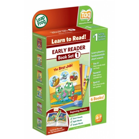 LeapFrog Early Reader LeapReader Book Set 1 - Short Vowels LeapFrog 0708431223301