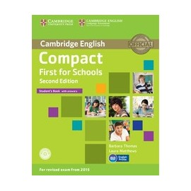 Compact First for Schools Second Edition Student's Book with answers + CD-ROM