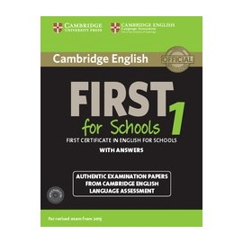Cambridge English First for Schools 1 (for 2015 Exam) Pack with Answers + Audio CDs
