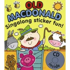 Old MacDonald Singalong Sticker Fun! Book + Audio CD