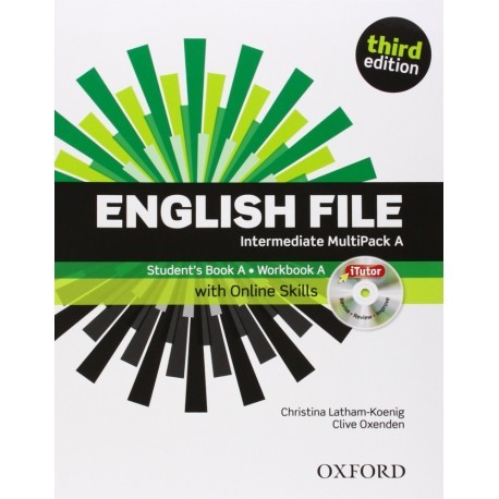 English File Third Edition Intermediate Multipack A + iTutor DVD-ROM + Online Practice Skills Oxford University Press 9780194597111