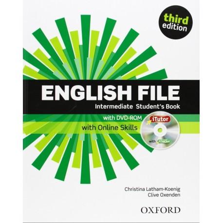 English File Third Edition Intermediate Student's Book + iTutor DVD-ROM + Online Skills Practice Oxford University Press 9780194597166