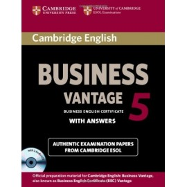 Cambridge English Business 5 Vantage Student's Book with Answers + CD