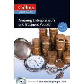 Collins English Readers: Amazing Entrepreneurs & Business People (A2) + MP3 Audio CD