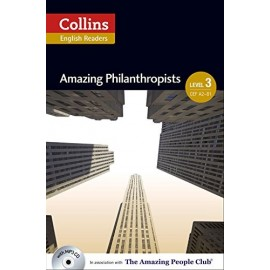 Collins English Readers: Amazing Philanthropists + MP3 Audio CD