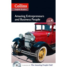 Collins English Readers: Amazing Entrepreneurs & Business People (B2) + MP3 Audio CD